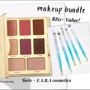 ⚠️FINAL PRICE: Tarte palette & FARAH brush set